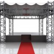 Festival open air stage with red carpet for celebrities - Stock Photo