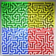Players sector on three dimensional maze top view — Stock Photo