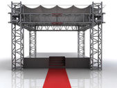 Festival open air stage with red carpet for celebrities — Stock Photo
