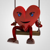 Heart figure swings for happiness — Stock Photo