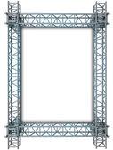 Iron blue shiny rectangle construction frame — Stock Photo