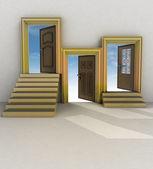 Tres diferentes tu de la vida — Foto de Stock