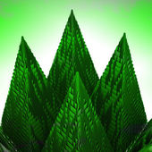 Abstract green mountain pyramid structure — Stock Photo