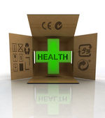 Medicament box delivery for patients — Stock Photo