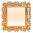 Outer decorated vector bronze square frame — Stock Vector #23366086