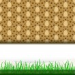 Royalty-Free Stock Vector Image: Grass stripe with frame and brown egg pattern vector