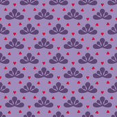 Cool leafy violet vector pattern — Stock Vector