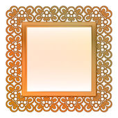 Outer decorated vector bronze square frame — Stock Vector