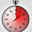 Stock Photo: Stopwatch front view with time in red