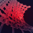 Bended red construction network wallpaper — Stock Photo #25056657