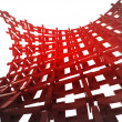 Isolated bended red construction wallpaper — Stock Photo #25056781