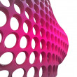 Isolated bended violet mesh with bulge wallpaper — Stock Photo
