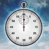 Cronómetro con una llamarada en concepto de cielo — Foto de Stock