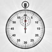 Vista frontal ao cronómetro com reflexo brilhante — Foto Stock