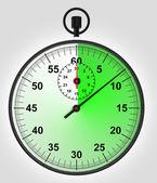 Vista frontal en verde corre stopwatch — Foto de Stock