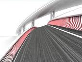 Due piste da corsa piegati su sfondo bianco — Foto Stock