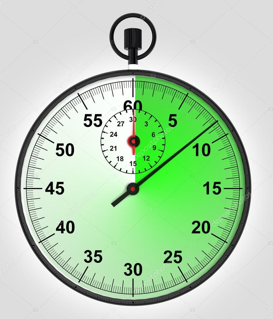 时钟ppt素材绿色