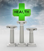 Best health care concept with flare in sky — Stock Photo