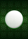 Green secession pattern with blank text circle vector — Stock Photo