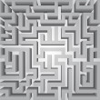 Finding way labyrinth concept vector structure — Zdjęcie stockowe