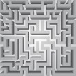 Finding way labyrinth concept vector structure — Stock Photo