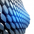 Stock Photo: Isolated bended blue shape bulge wallpaper