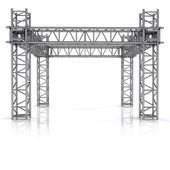 Simple iron new building construction frame — Stock Photo