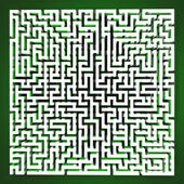 Labyrinth tangle perspective upper view — Stock Photo