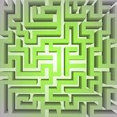 Finding green positive way in maze concept vector — Stock Photo
