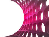 Isolated bended violet mesh wallpaper — Stock Photo