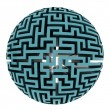 Stock Photo: Isolated blue maze half sphere shape