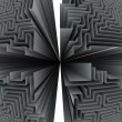 Black and white four maze structures — Stock Photo #28829547