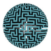 Isolated blue maze half sphere shape — Stock Photo