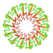 Rode groene pijl zigzag cirkel samenstelling — Stockfoto