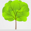 Simply one tree vector drawing — Stockvektor #28827703