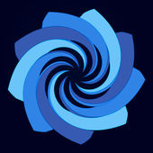 Blue vortex galactic star vector — Vector de stock