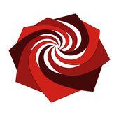 červené izolované střední sněhová hvězda vektor — Stock vektor