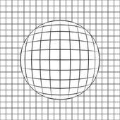 Sphere in grid line drawing vector — Stock Vector