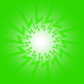 Frecce verdi in vettoriale composizione punto a zig-zag medio — Vettoriale Stock