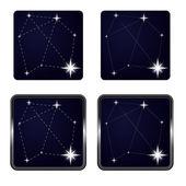 Several stars in icon frame series vector — Stock Vector