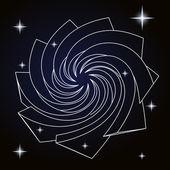 Mgławica kilka gwiazd w kosmosie wektor — Wektor stockowy