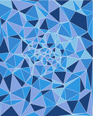 Trójkątny niebieski odcień skali struktury — Wektor stockowy