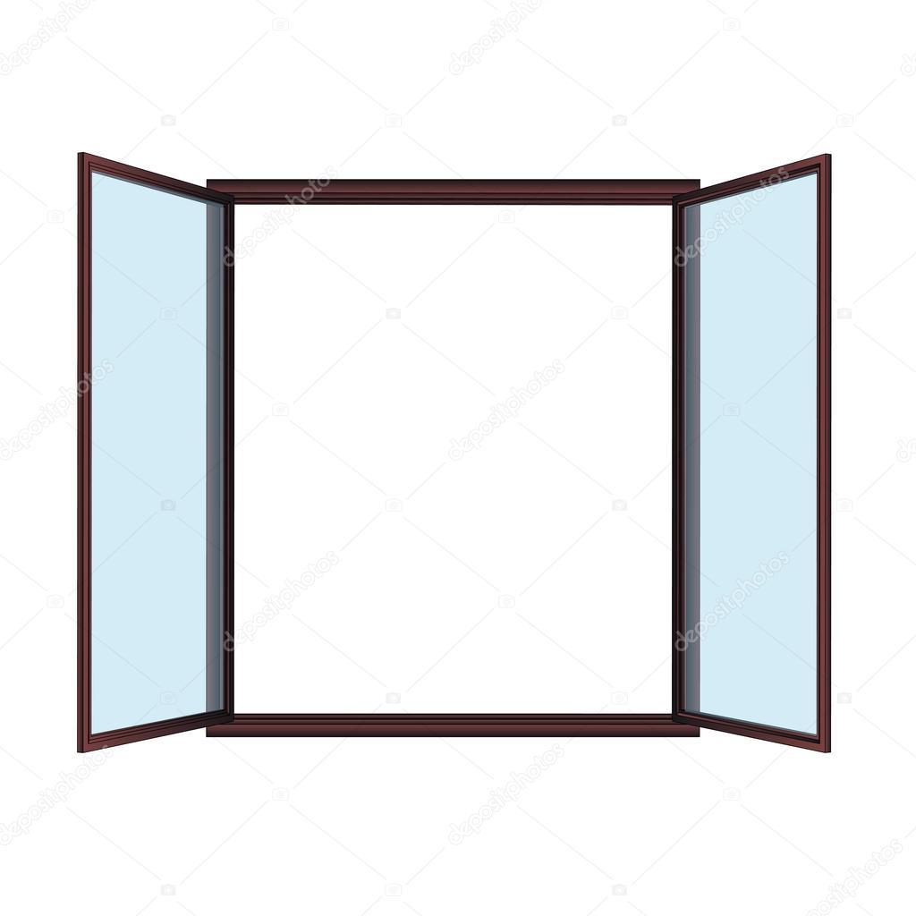 Dessin vectoriel de fen tre ouverte image vectorielle for Ouvrir fenetre javascript