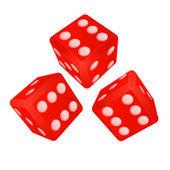 Three dimensional dices with high score vector — Stock Vector