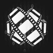 Film taśmy na binar kod tło wektor — Wektor stockowy
