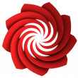 Red isolated central swirl star — Stock Photo