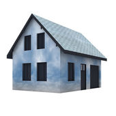 Isolated cloudy house imagination — Foto de Stock