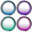 Isolated colorful webdesign button series vector — Stock Vector