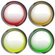 Isolated colorful webdesign button set vector — Stock Vector #29225261