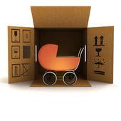 коляска для доставки продукции — Стоковое фото